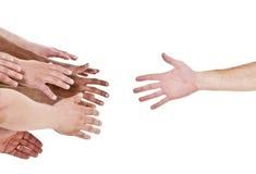 Hand, die für Hilfe erreicht Stockfotos