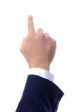 Hand, die Finger zeigt Lizenzfreie Stockfotos
