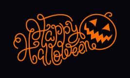 Hand die Gelukkig Halloween van letters voorzien Royalty-vrije Stock Foto