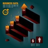 Hand, die Geschäftsdiagramm zeigt Lizenzfreies Stockbild