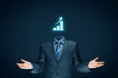 Hand, die Geschäftsdiagramm zeigt Lizenzfreie Stockbilder