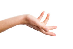 Hand, die Geste zeigt Stockbild
