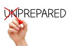 Voorbereide niet Onvoorbereid Stock Afbeeldingen
