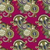 Hand die het overladen naadloze ontwerp van bloempaisley trekken Royalty-vrije Stock Afbeelding