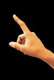 Hand die het raken richten Royalty-vrije Stock Afbeelding