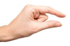 Hand die kleine grootte 3 toont Stock Afbeeldingen
