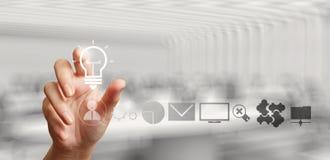 Hand, die kreative Geschäftsstrategie zeichnet Lizenzfreies Stockfoto