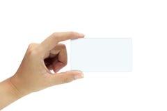 Hand die leeg houdt Stock Foto's