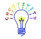 Hand, die lego Wand aufbaut Glühlampelogo mit Beschriftung Konzept oder Brainstorming und einzigartige Ideen Auch im corel abgeho Vektor Abbildung