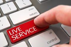 Hand, die Live Service Button berührt 3d Lizenzfreies Stockbild