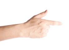 Hand die met de wijsvinger richten Royalty-vrije Stock Fotografie