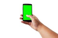 Hand die mobiel smartphone Stock Foto
