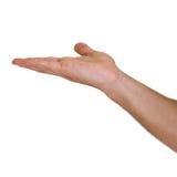 Hand die op Wit wordt geïsoleerd Stock Foto's