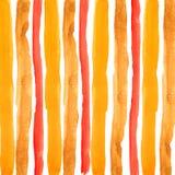 Hand, die orange Streifen des Aquarells ertrinkt stock abbildung