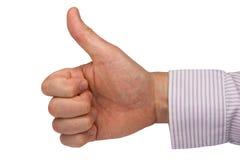 Hand, die Pluszeichen ausdrückt Stockbild