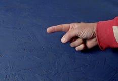 Hand die richting richten stock foto's