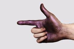 Hand die richting tonen royalty-vrije stock afbeelding