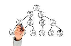 Hand, die Sozialnetz zeichnet Lizenzfreie Stockfotos