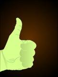 Hand die succesteken toont stock illustratie