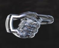 Hand die teken, 3D symbolen toont ( Stock Foto's