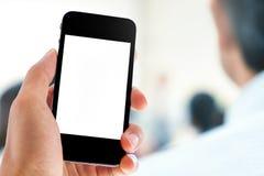 Hand, die Telefon hält Lizenzfreies Stockfoto