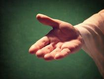 Hand die van God uit bereiken royalty-vrije stock afbeeldingen