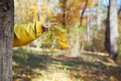 Hand die vingerrecht richten Stock Foto