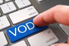 Hand, die VOD-Schlüssel berührt 3d Lizenzfreies Stockfoto