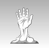 Hand, die vom Boden herauskommt Stockbilder