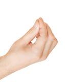 Hand die wat voorwerp houden Stock Afbeeldingen