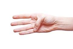 Hand, die Zeichen bildet Stockbild