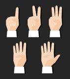 Hand, die Zeichen zählt Stockfotos