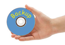 Hand with disk Backup Royalty Free Stock Photography