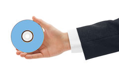 Hand with disk Stock Photo