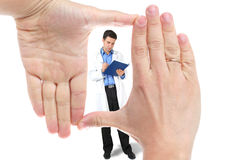 Hand and doctor Royalty Free Stock Image