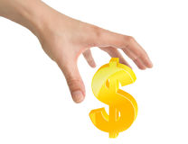 Hand and dollar Stock Photography