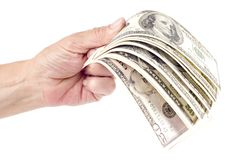 Hand and dollar Royalty Free Stock Photo