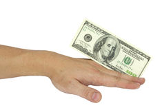 Hand with dollar banknotes Stock Photography