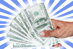Hand with dollar banknotes Stock Photos