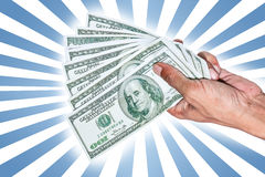 Hand with dollar banknotes Royalty Free Stock Photos