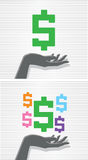 Hand and dollar sign Royalty Free Stock Photography
