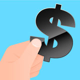 Hand with dollar symbol Stock Photos