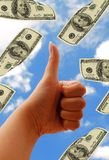 Hand and dollars Royalty Free Stock Photos