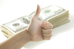 Hand and dollars Stock Images