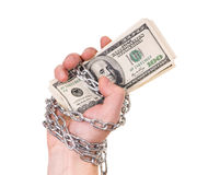 Hand with dollars Royalty Free Stock Images