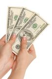 Hand with dollars Royalty Free Stock Photography
