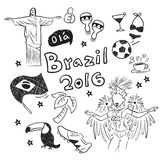 Hand doodle Brazil element Stock Photography