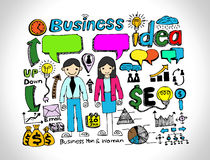 Hand doodle Business doodles Royalty Free Stock Photo