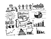 Hand doodle Business doodles Royalty Free Stock Images