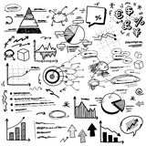 Hand doodle charts. There are hand doodle charts Royalty Free Stock Photography